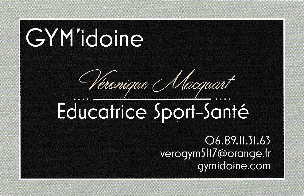 Carte Visite Gym Ville En Tardenois 51170